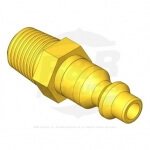 PLUG - BRASS COUPLER 1/4 NPTM - R5551