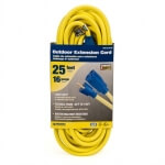 CORD - EXTENSION 16/3 SJTW 1625 WATTS YELLOW - RE2316-025