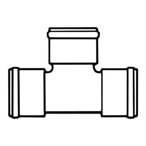 18.701X10 PVC RED TEE GSKT 100 - RG300103206