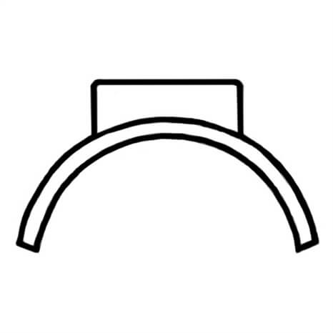 12X8 PVC SADDLE SOC CL125 - RG330101818