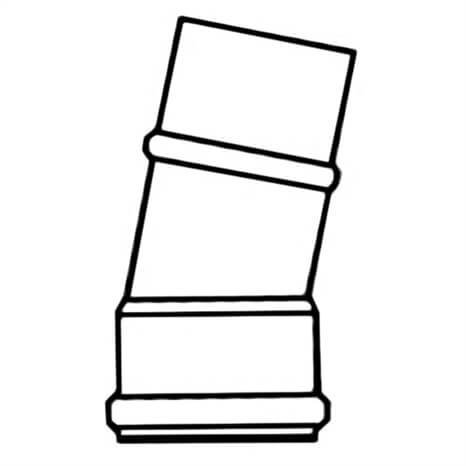 4 PVC 11-1/4 ELL GSKXSPG CL160 - RG340100185