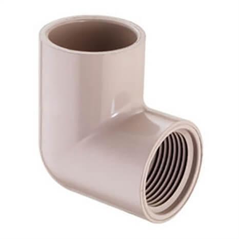 3/4X1/2 PVC UVR RED 90 ELL SOCXFPT - RG407101UV