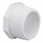 3/4 PVC PLUG MPT SCH40 - RG450007