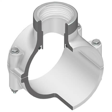 8X3 PVC CLAMP SADDLE EPDM SRFPT SS - RG467SE580SR