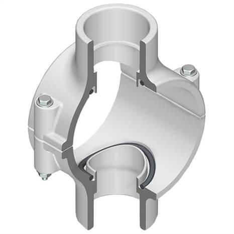 8X1-1/2 PVC CLMP SDL D/O SOC BNA ZN - RG468577