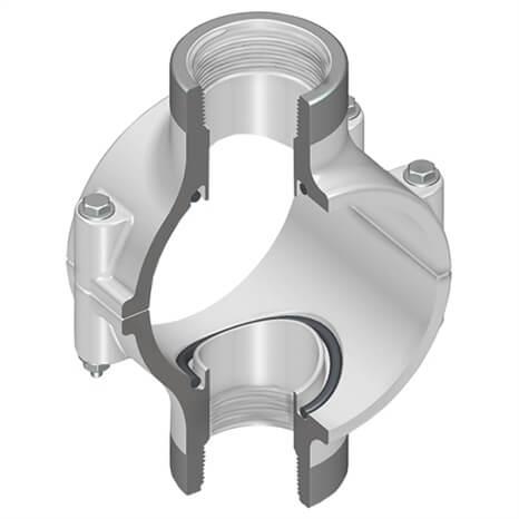 2X1-1/4 PVC CLMP SDL D/O SRFPT BUNA - RG469S250SR