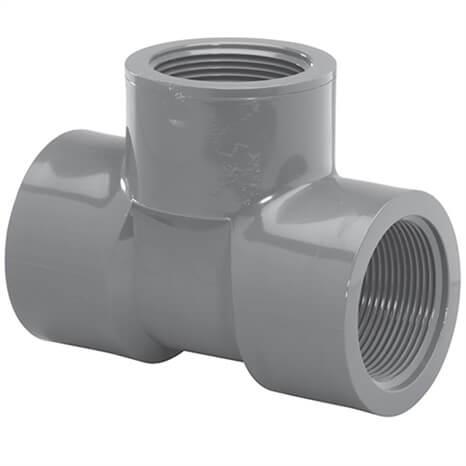 3/4 PVC TEE FPT SCH80 - RG805007