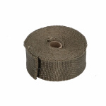 Heat Resistant Exhaust Tape 5cm x 10m with tyraps 800°C - RDM-HT510M
