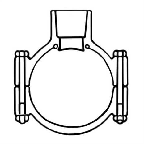 6X2 PVC CLAMP SADDLE SOC EPDM SS BO - RG866S528