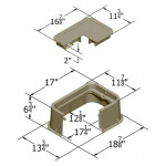 Carson Valve Box w/Lid 1419-6x SPEC GRADE - Tan ICV - RGC14191003