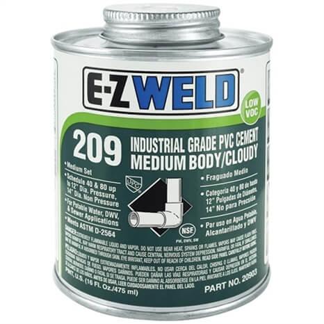 INDUSTRIAL GRADE PVC CEMENT MEDIUM BODY CLOUDY - QUART - RGEZ20904