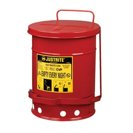 CAN - OILY WASTE - RED-6 GAL - RJ09100