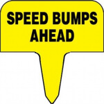 SIGN - SPEED BUMPS AHEAD - RP88559