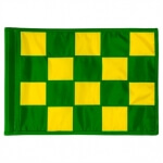 SMALL CHECKERED GOLFFLAG - Groen met Geel - RPF41103EG-YL