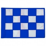 SMALL CHECKERED GOLFFLAG - Blauw met Wit - RPF41103RB-WH