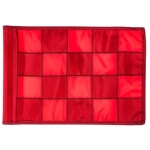 SMALL CHECKERED GOLFFLAG Rood met Rood - RPF41103RD-RD