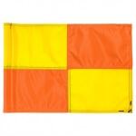 CHECKERED GOLFFLAG Geel met Oranje - RPF41106YL-OR