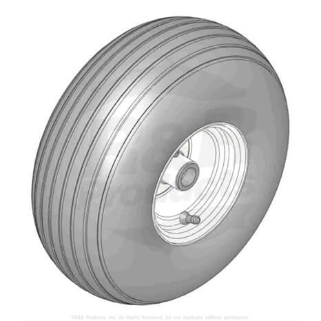 Tire w/wheel assy - RTD-1788