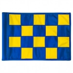 SMALL CHECKERED GOLFFLAG - Blauw met Geel - RPF41103RB-YL