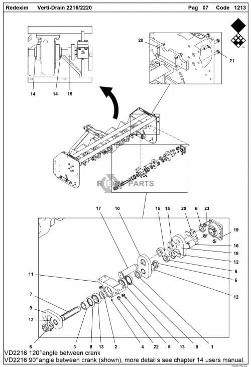 vertidrain 2220 onderdelen basismachine parts
